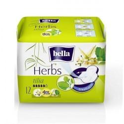 Podpaski higieniczne Bella Herbs, wzbogacone kwiatem lipy