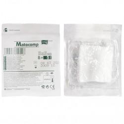 Kompresy z gazy Matocomp, jałowe, 17-nitkowe, blister