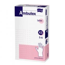 Rękawiczki lateksowe Ambulex P, białe