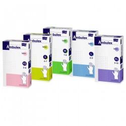 Rękawiczki lateksowe ochronne Ambulex P medyczne białe