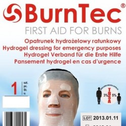 Opatrunek hydrożelowy Burntec na twarz