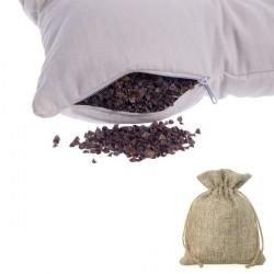 Poduszka do spania, z łuską gryki, woreczek z lawendą