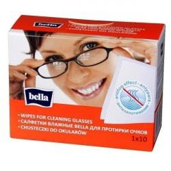 Chusteczki nawilżane do czyszczenia okularów Bella 10szt.