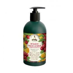 Mydło jagodowe Babuszka Agafia, delikatność i komfort 500ml